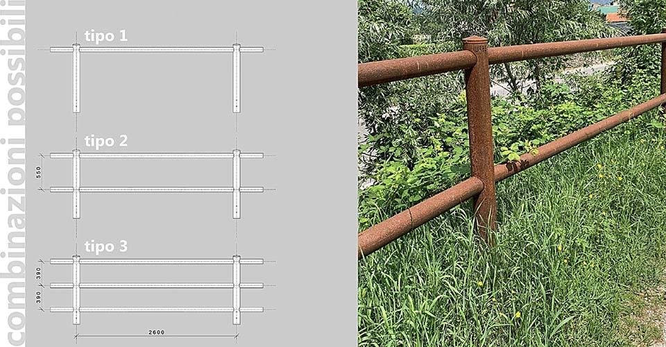 Innovativi modelli di staccionate, realizzate in acciaio Cor-Ten® a basso impatto ambientale